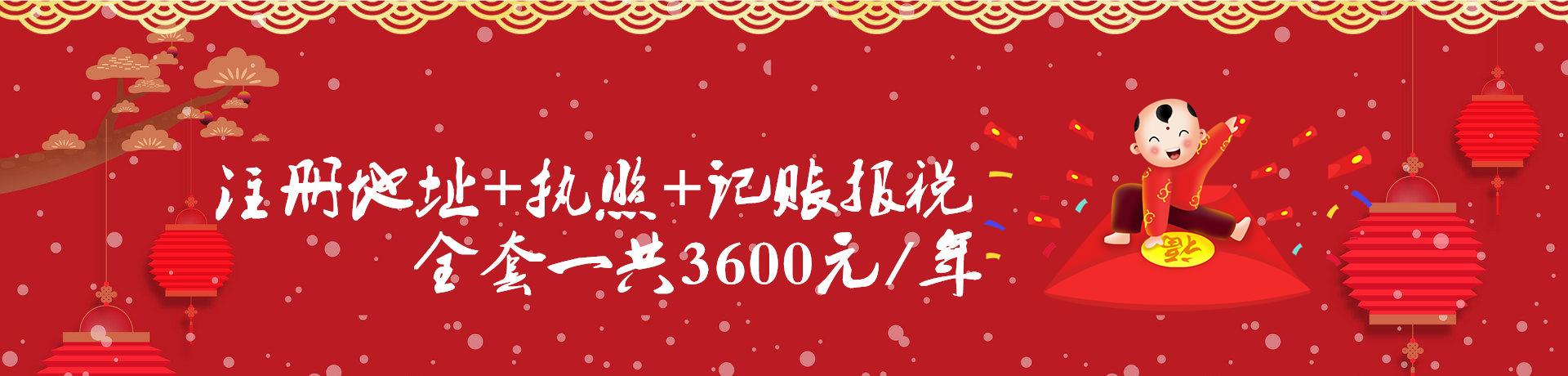 公司注册+1年财务代帐3600元